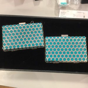 Teal and Gold Clutch